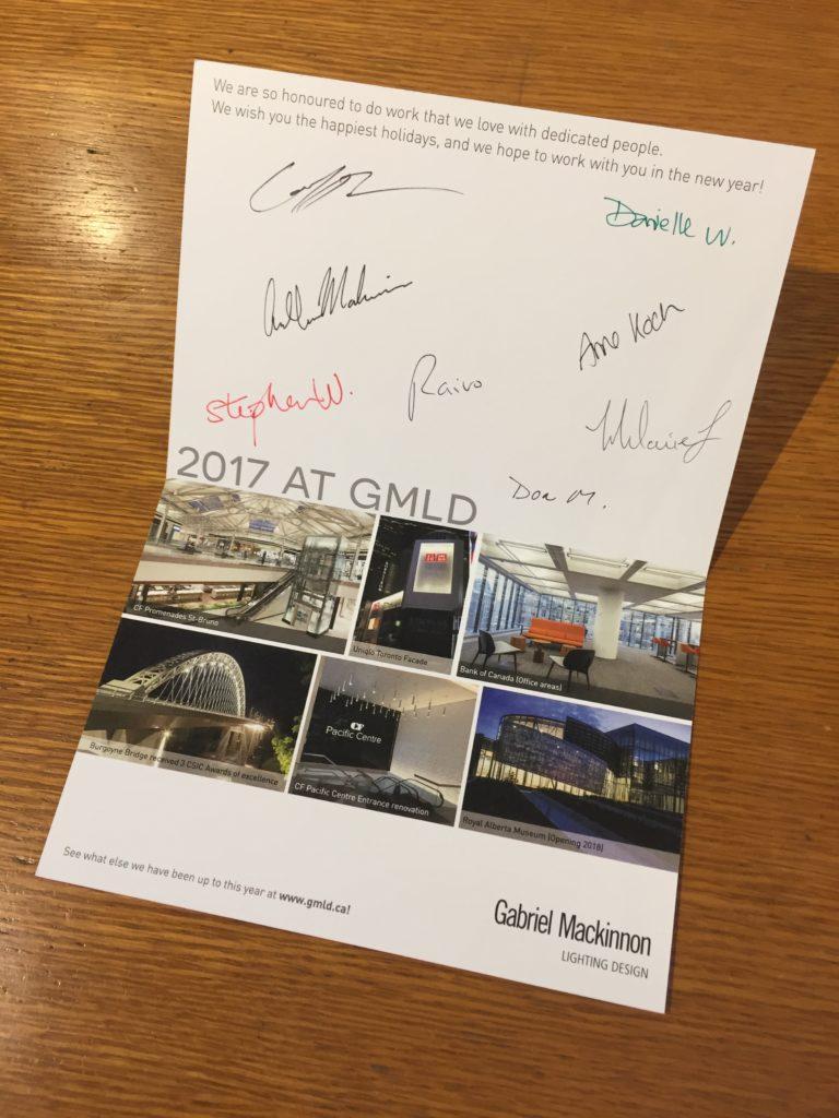 GMLD Christmas Holiday Card - Inside